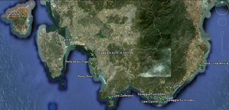 Cartina Satellitare Sardegna.Maps Geo
